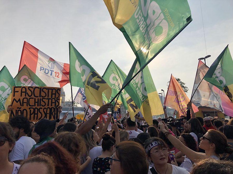 Demonstration+against+presidential+candidate+Jair+Bolsonaro+at+Largo+da+Batata+in+S%C3%A3o+Paulo+city%2C+Brazil.+29+September+2018.