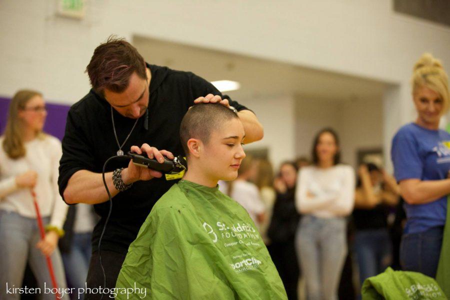Annika Boyer (junior) achieves Zen like acceptance and look.