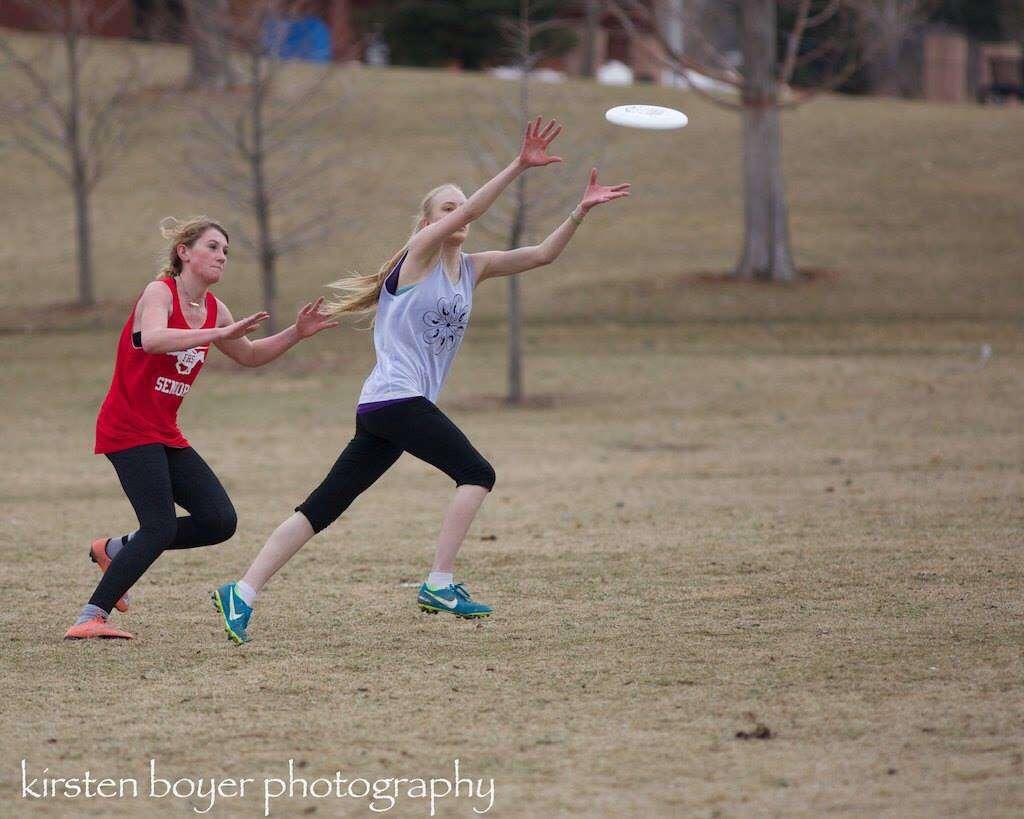Ava+Rast+showcases+her+frisbee-catching+abilities