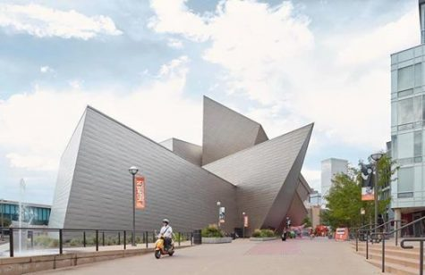 A photo of the exterior of the Denver Art Museum in downtown Denver.