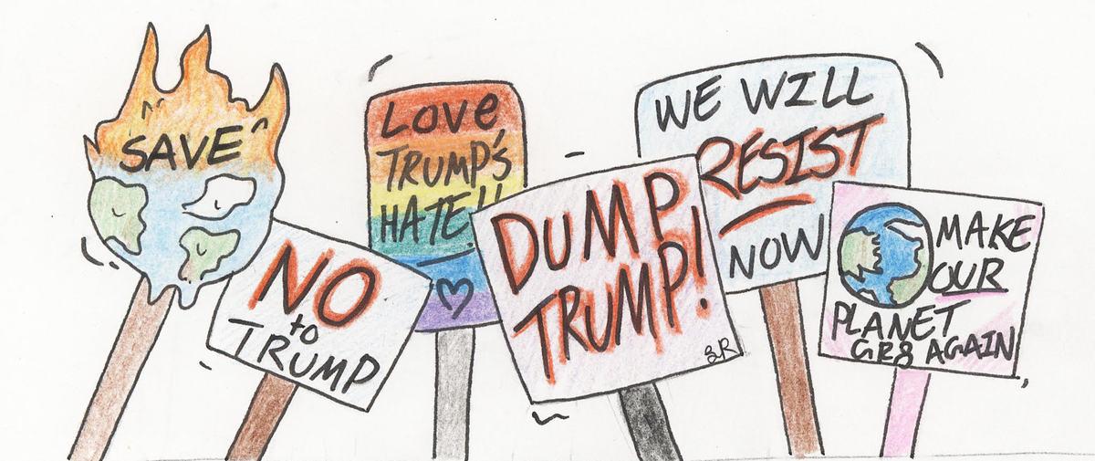 Cartoon by Lillian Ruelle.