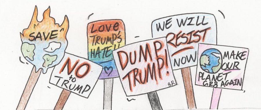Political cartoon created by Lillian Ruelle.