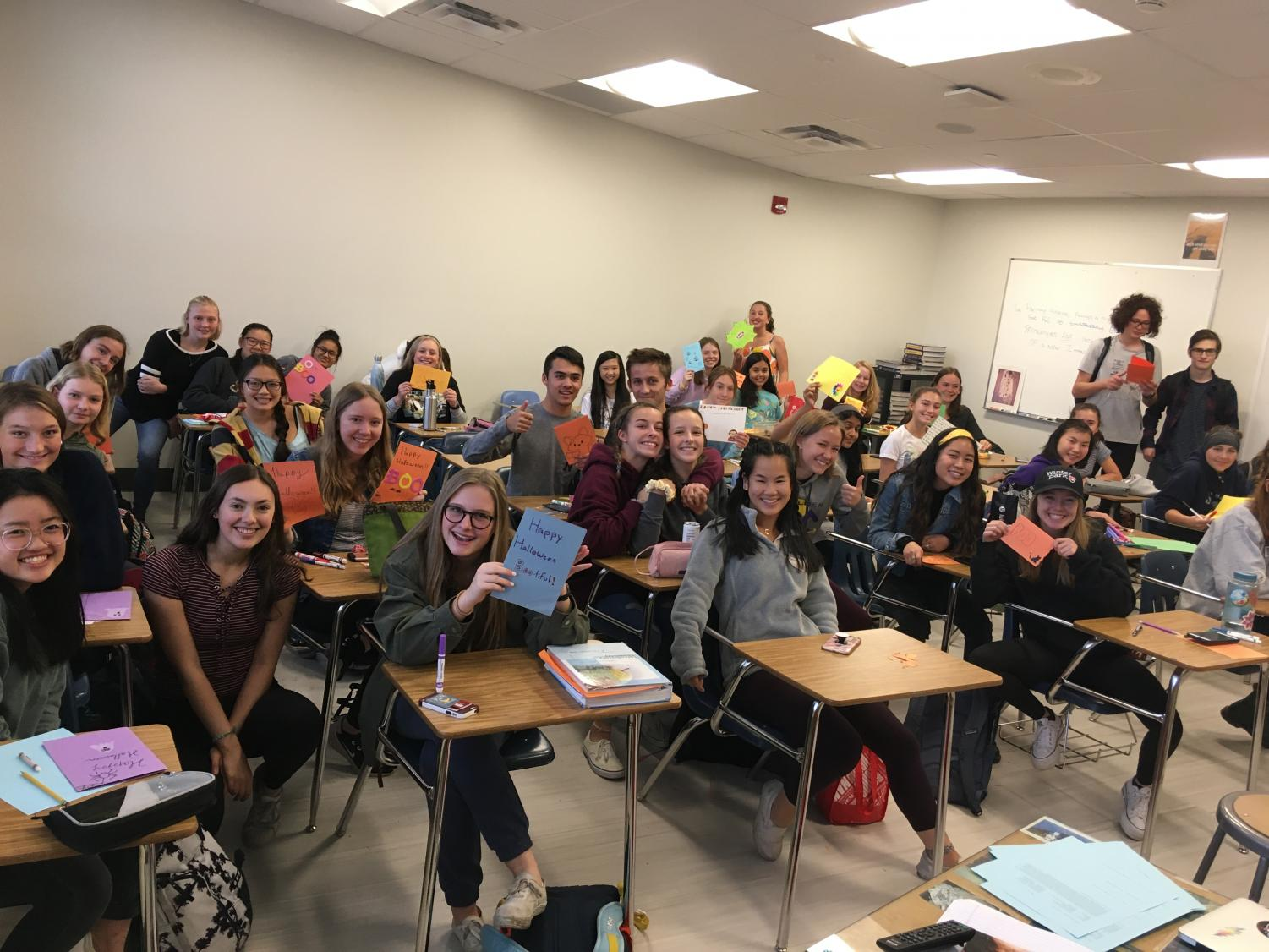 Though the club began mere weeks ago, it already has a strong following of BHS students ready and excited to give back to their communities. Photo via Charlotte Gorgemans.