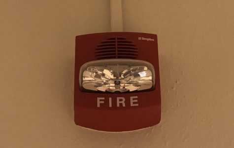One of Boulder High's overactive fire alarms. Photo by Amanda reader.