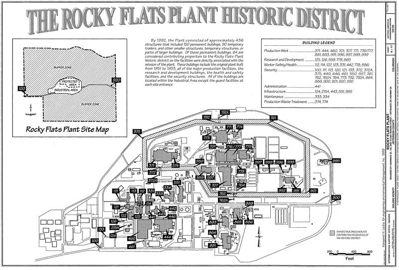 The reopening of the Rocky Flats Plant has sparked a discussion over our nuclear past. Historic American Engineering Record, Drawing of Environmental Technology Site.