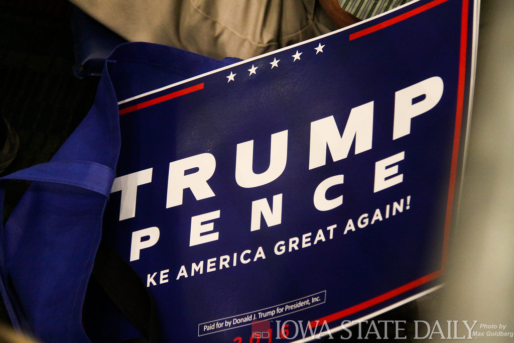 Sign used to promote the 2016 Trump and Pence election campaign. They worked together then, but will it still be that way come 2020? Photo courtesy of Creative Commons.