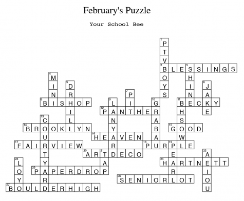 February Crossword Puzzle