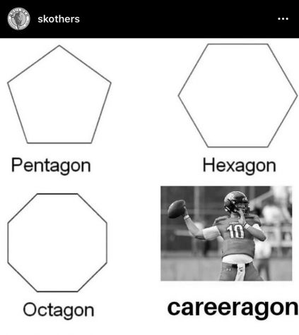 The controversial meme in question, proclaiming Atkinson to be career-a-gon. Via @skothers on Instagram.