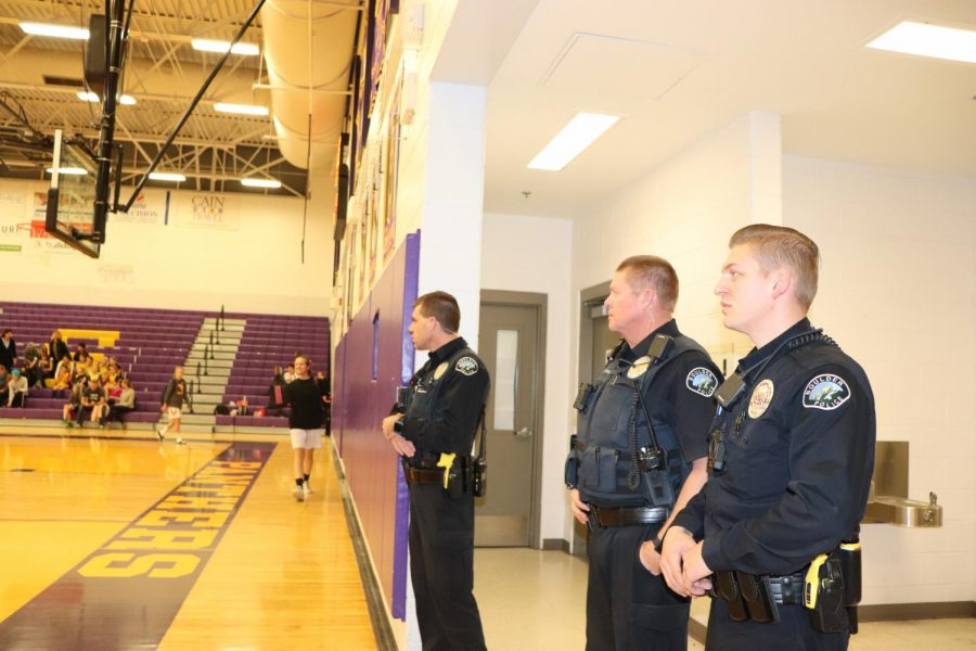 Three Boulder Police Officers arrived at the game moments after the father was escorted out of the game.
