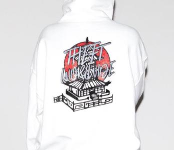 Instagram user @ninaamenell models a white custom THEFT hoodie.