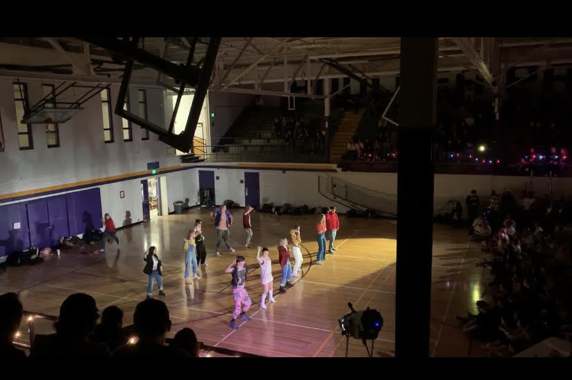 6th period LOYO dancers flaunt their skills as photographed from the audience packed into the Pit.