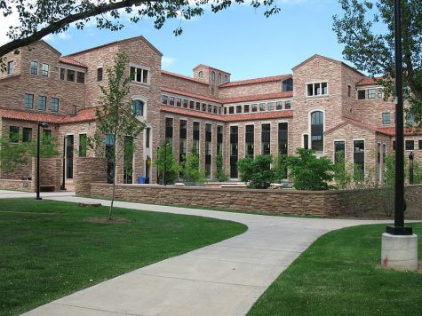 The Wolf Law Building, like the rest of CU Boulder