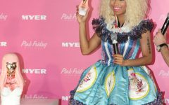 "Nicki Minaj in Sydney, Australia at her ""Pink Friday Perfume"" launch in 2012. Her album Pink Friday was released during the height of her popularity. Photo via Wikicommons."