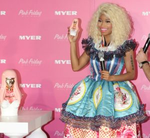 """Nicki Minaj in Sydney, Australia at her """"Pink Friday Perfume"""" launch in 2012. Her album Pink Friday was released during the height of her popularity. Photo via Wikicommons."""