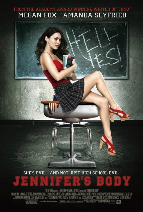 Megan Fox on the cover of the promotional poster from the original 2009 release of Jennifer's Body. Via Google CC