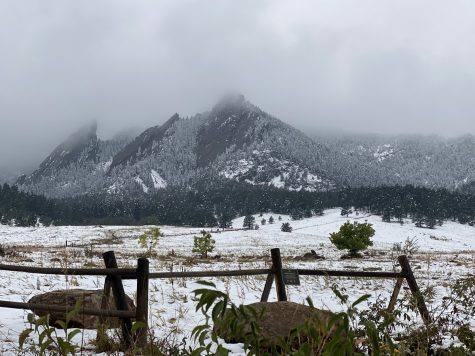 The iconic Flatirons typically look this frozen in December. Boulder residents are marveling at this sight early this year.
