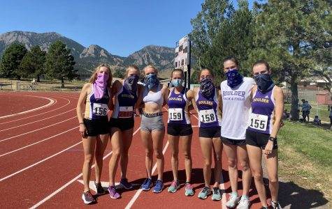 Girls varsity cross country team after their meet at Fairview High School on September 12th.