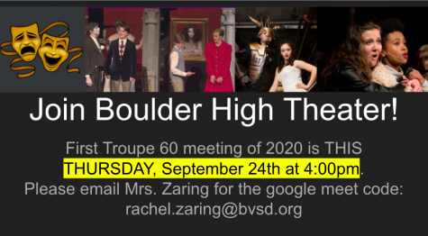 To learn more about how you can become involved in Troupe 60 this year, email Mrs. Zaring or Mrs. Smith for the Google Meet Code. Via Rachel Zaring