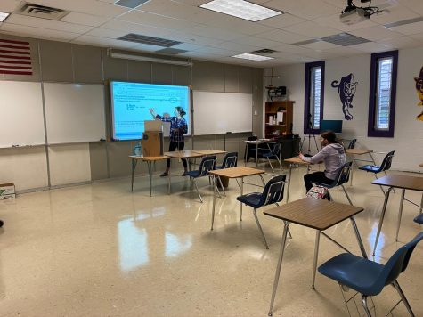 Grace Haislmaier sits alone in Ms. Spekl