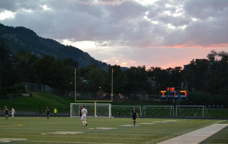 Recht field, Boulder High's very own football field. Football fields are 57,000 Sq Ft.
