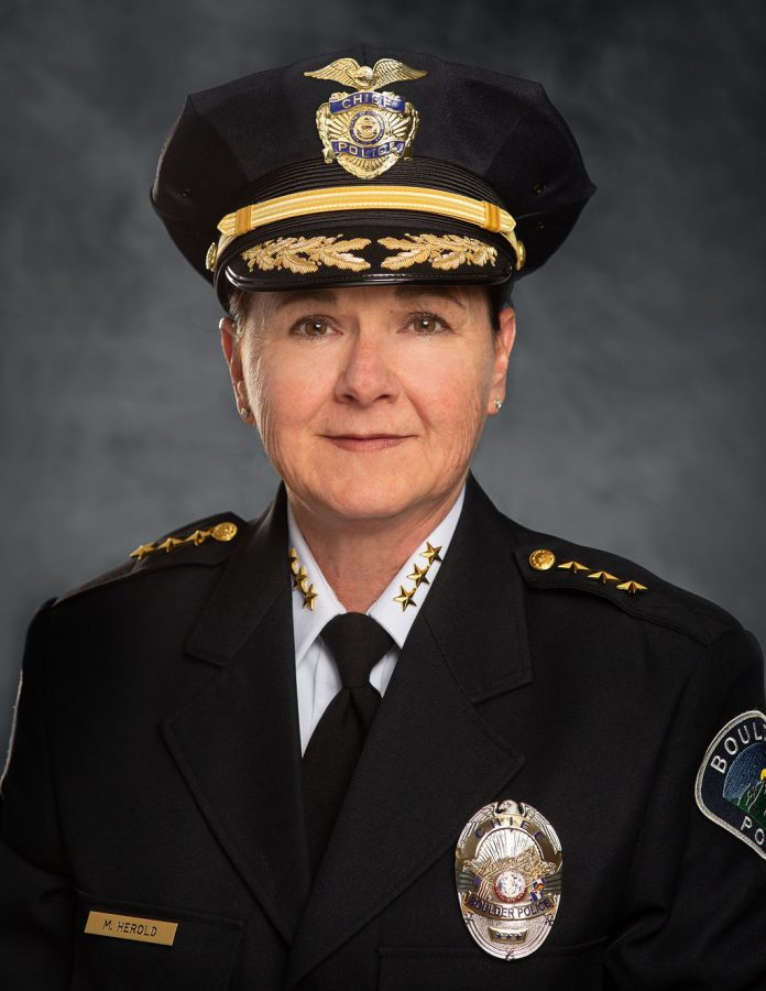 Boulder's Chief of Police Maris Herold is new to the Boulder Police but has been an officer for over three decades.