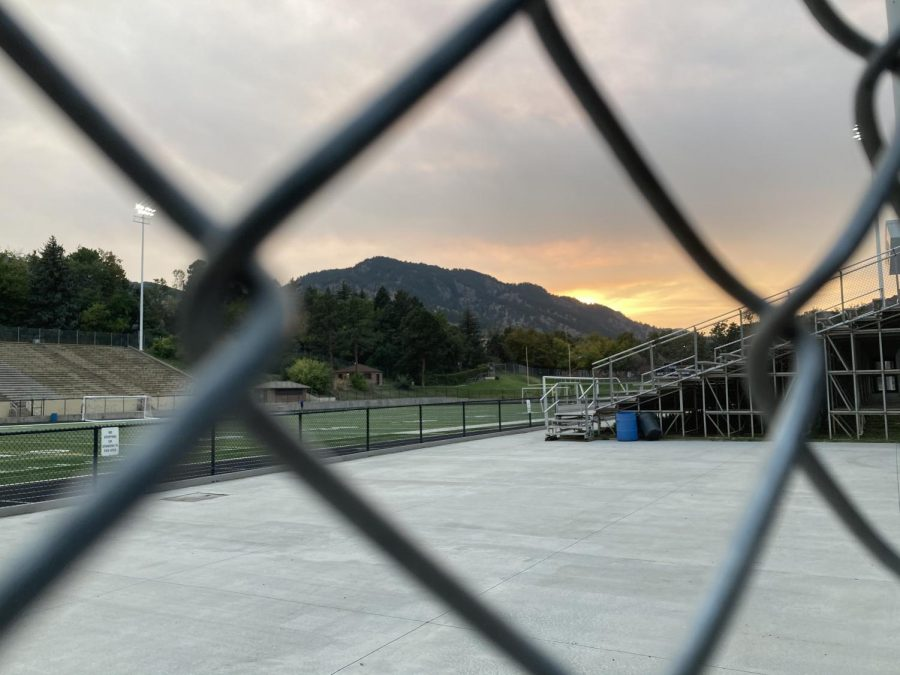 Recht Field, home of Boulder High's soccer program, is empty for now.