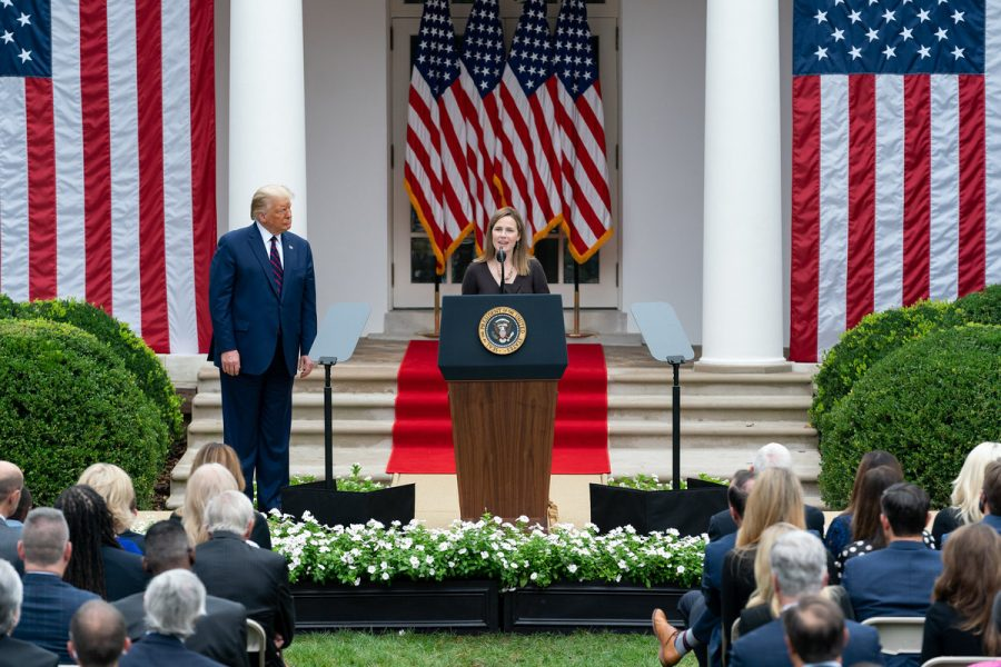 Just last Saturday, over 100 people attended a ceremony for the nomination of Amy Coney Barrett to the Supreme Court.