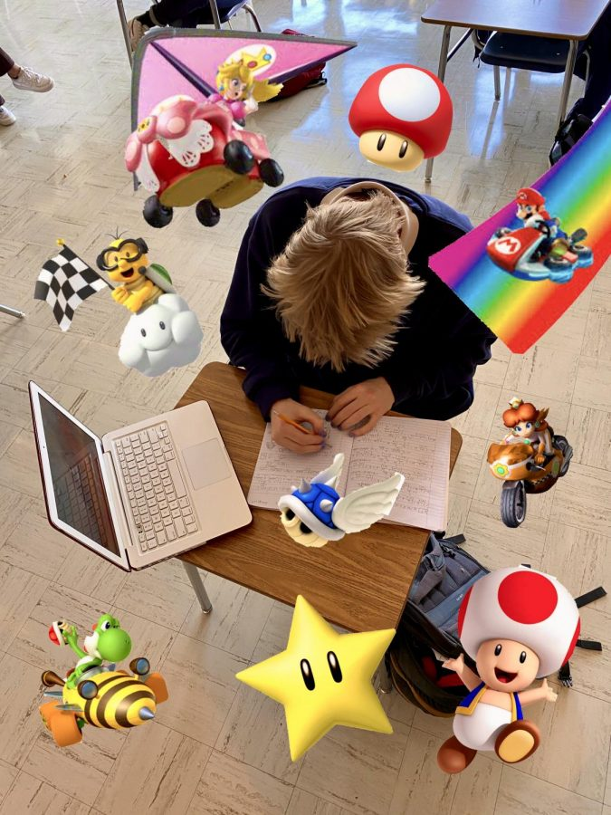 A+student+in+what+they+call+the+%22Mario+Kart+Zone%2C%22+working+vigorously+with+full+concentration+on+their+schoolwork.