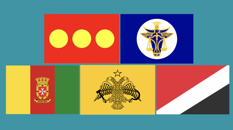 The flags of various micronations.