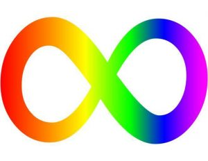 This is a symbol of the autistic community in place of the puzzle piece ribbon that has an ableist history.