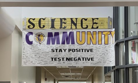 """Stay Positive, Test Negative"" is the new motto broadcasted throughout the halls of Boulder High, encouraging students to stay safe and not lose hope in these very strange times."