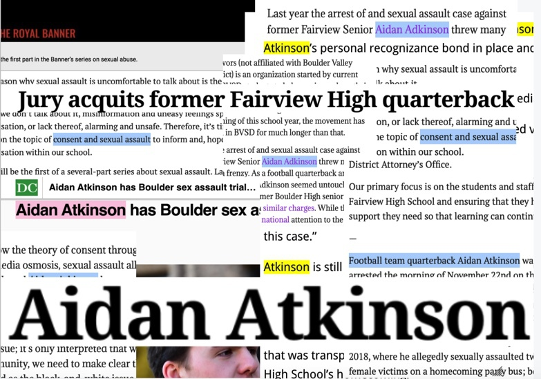Aidan Atkinson's name has been in the news a lot in the past year and a half. This is the first time that the news has seemingly been in his favor, but across the district and the county, many disagree with the verdict.
