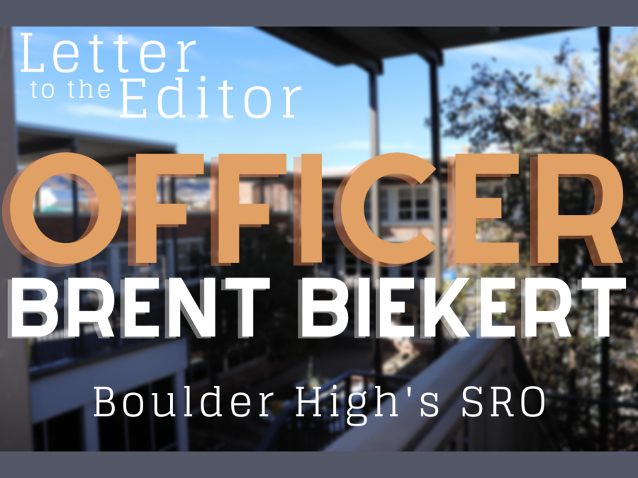 School Resource Officer Brent Biekert writes to the Boulder High community a year after in-person learning was suspended due to the pandemic.