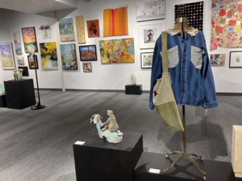 Open Studios doesn't just feature traditional paintings- artists create clothing, whimsical ceramics, and photography as well.